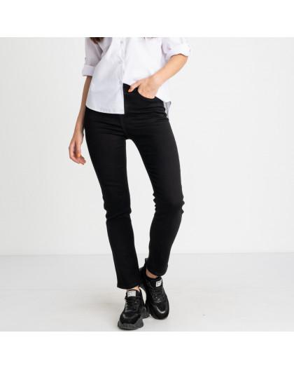 5056 New Jeans американка полубатальная черная стрейчевая (6 ед. размеры: 28.29.30.31.32.33) New Jeans
