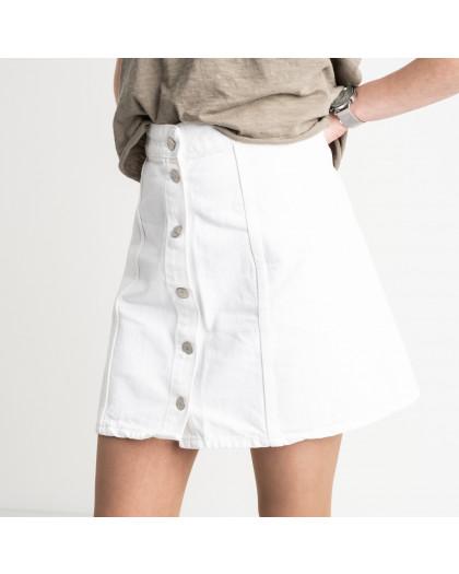 2002 юбка на пуговицах белая котоновая (4 ед. размеры: 24.26.28.30) Юбка