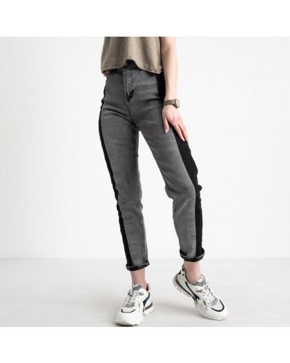8120 Sasha мом женский серый с черным стрейчевый (8 ед. размеры: 26.27/2.28/2.29.30.31) Sasha