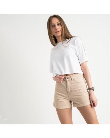 3402 шорты джинсовые бежевые котоновые ( 8 ед. размеры: 25/2.26/3.28/2.30) Шорты