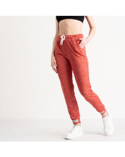 1420-4 красные спортивные штаны женские из двунитки (4 ед. размеры: S.M.L.XL) Спортивные штаны