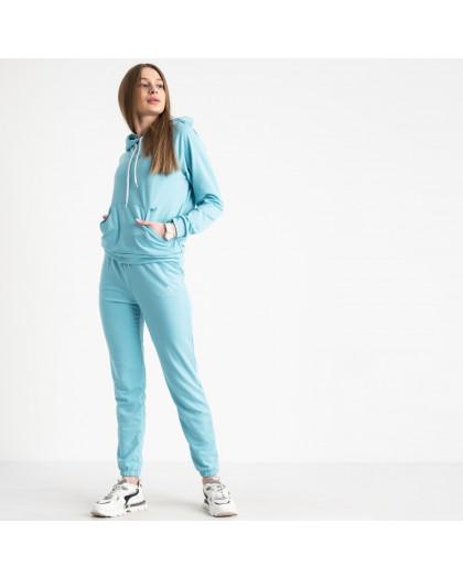 1467-20 небесный голубой женский спортивный костюм из двунитки (4 ед. размеры: S.M.L.XL) Спортивный костюм
