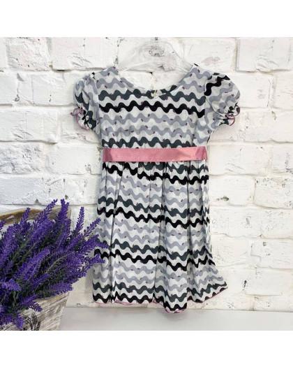 0007-1 платье хлопковое на девочку 1-4 года (3 ед. размеры: 80.92.104) Маленьке сонечко