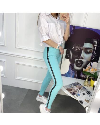 8059-12 Yimeite бирюзовые брюки женские стрейчевые (6 ед. размеры: 25/2.26.27.28.29) Yimeite