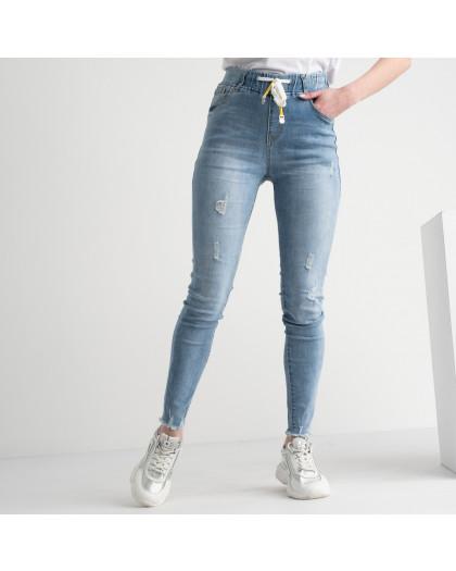 0630 New Jeans джинсы голубые стрейчевые на резинке (6 ед. размеры: 25.26.27.28.29.30) New Jeans