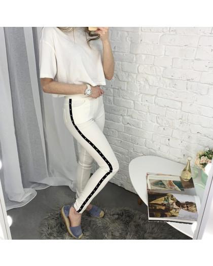 8060-11 Yimeite молочные брюки женские стрейчевые (6 ед. размеры: 25/2.26.27.28.29) Yimeite