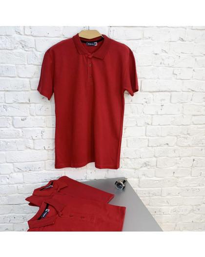 2690-7 красная футболка поло мужская (4 ед. размеры: M.L.XL.XXL) Футболка