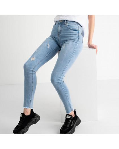 0664 New Jeans американка голубая стрейчевая  (6 ед. размеры: 25.26.27.28.29.30) New Jeans