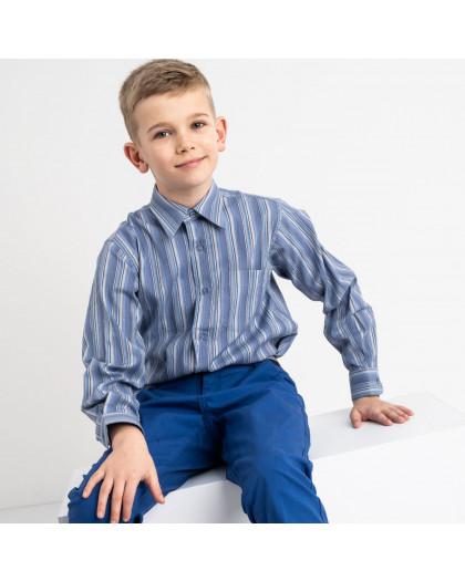 1905 Boston Public синяя рубашка в полоску на мальчика 7-15 лет (5 ед. размеры: 30/31.32/33.33/34.34/35.35/36) Boston Public