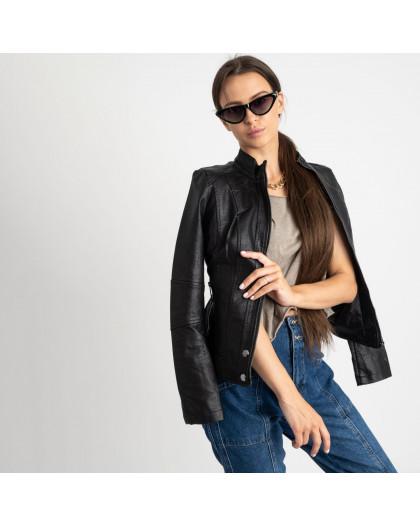 2007 куртка черная женская из кожзама (5 ед. размеры: S.M.L.XL.XXL)  Куртка