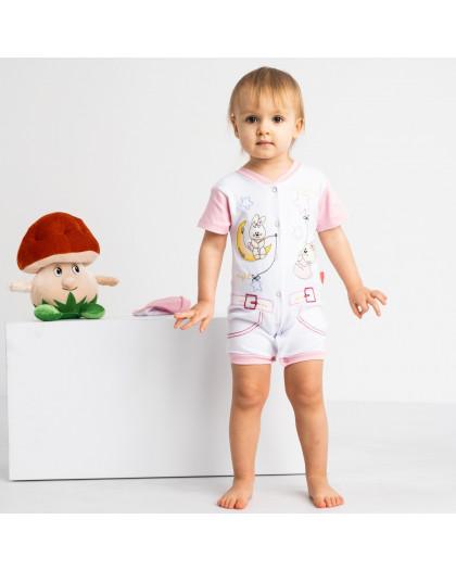17062 Emotion Kids розовый комплект (комбинезон+шапочка) на девочку 1-9 мес. (6 ед. размеры: 62.62.68.68.74.74) Emotion kids