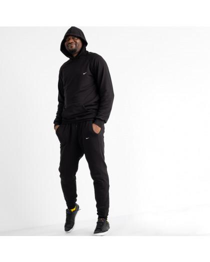 16218-1 черный мужской спортивный костюм из двунитки (4 ед. размеры: M.L.XL.2XL) Спортивный костюм
