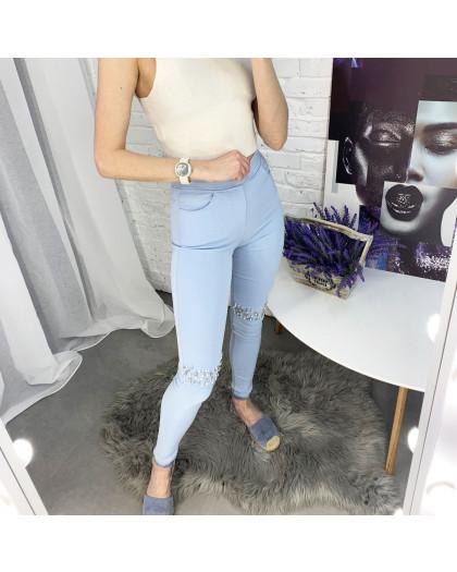 8053-7 Yimeite голубые брюки женские стрейчевые (6 ед. размеры: 25/2.26.27.28.29) Yimeite