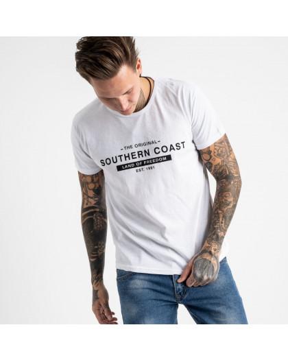 2682-4 белая футболка мужская полубатальная (4 ед. размеры на бирке: 2XL.3XL.4XL.5XL) Футболка