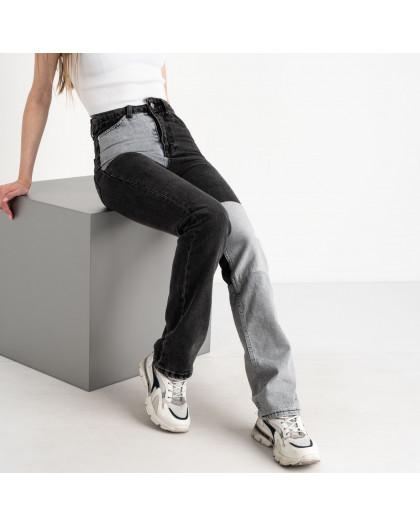 0760 Ponza джинсы двухцветные серые с черным котоновые (7 ед. размеры:34/2.36/2.38/2.40) Ponza