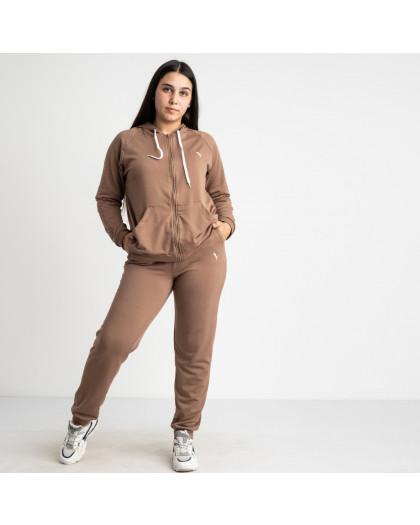 15111-3 Mishely мокко женский спортивный костюм батальный из двунитки (4 ед. размеры: 50.52.54.56)  Mishely