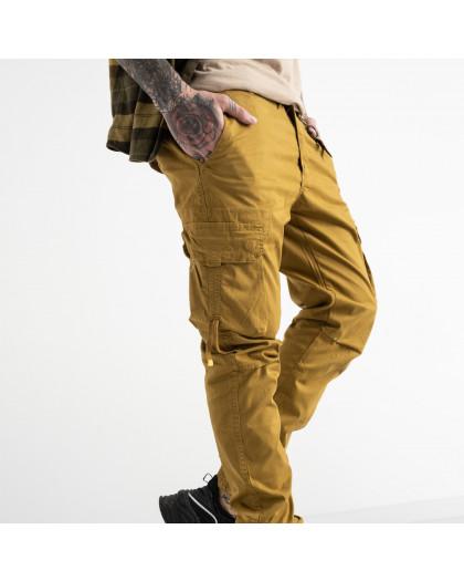 8956-14 песочные брюки карго мужские стрейчевые (5 ед. размеры: 31.32.33.34.38) Брюки