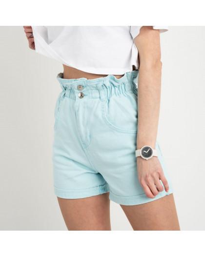 3662 шорты джинсовые мятные  котоновые ( 8 ед. размеры: 25/2.26/3.28/2.30 ) Шорты