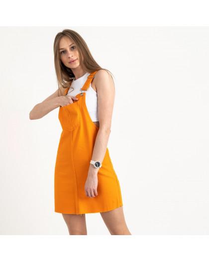 2907-7  Defile сарафан джинсовый оранжевый котоновый  (7 ед. размеры: 34/2.36/2.38/2.40)  Defile