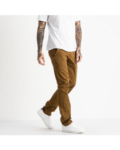 5764 LS брюки мужские желтовато-коричневые стрейчевые (7 ед. размеры: 28.29.30.31.32.33.34) LS