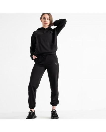 15222-1 Mishely черный женский спортивный костюм из двунитки (4 ед. размеры: S.M.L.XL) Mishely
