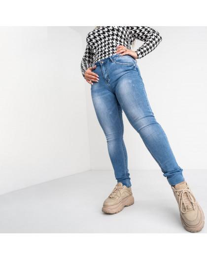 8352 Vanver джинсы женские полубатальные голубые стрейчевые (6 ед. размеры: 28.29.30.31.32.33) Vanver