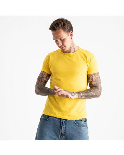 2600-6 желтая футболка мужская (4 ед. размеры: M.L.XL.2XL) Футболка