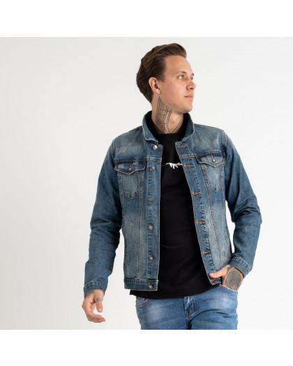 1003 Fang джинсовая куртка синяя стрейчевая (5 ед. размеры: M.L.XL.2XL.3XL) Fang
