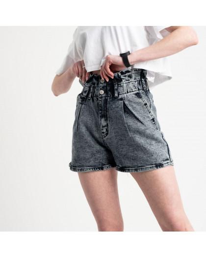 0029-8 T Relucky шорты серые женские стрейчевые (6 ед. размеры: 25.26.27.28.29.30) Relucky