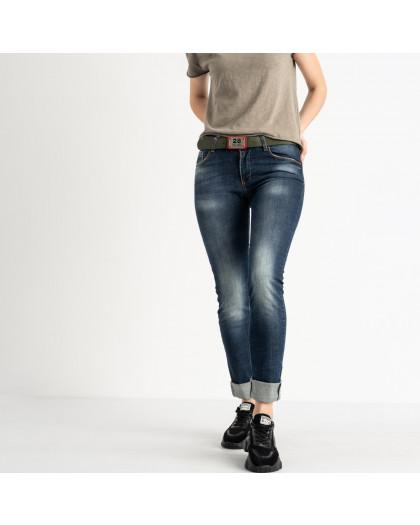 9095-B-5201 Colibri джинсы полубатальные женские темно-синие стрейчевые (7 ед. размеры: 28.29.30.31.31.32.33) Colibri