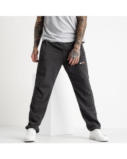 16403-4 серые спортивные брюки из двунитки (4 ед. размеры: 46.48.50.52) Спортивные штаны