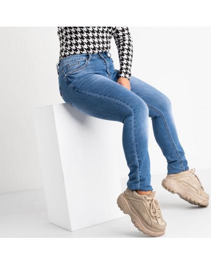 8353 Vanver джинсы женские полубатальные голубые стрейчевые (6 ед. размеры: 28.29.30.31.32.33) Vanver