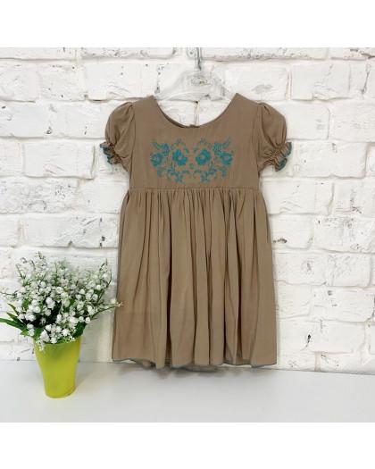 0264 платье мокко на девочку 1-3 года (3 ед. размеры: 80.92.104) Маленьке сонечко