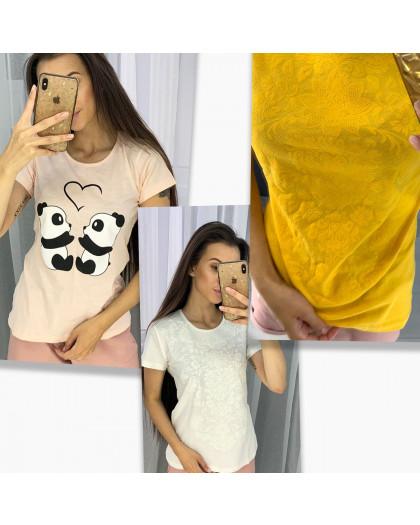 2704-99 футболка женская микс 3-х моделей и цветов без выбора цветов (12 ед. размеры:S.M.L.XL) МИКС