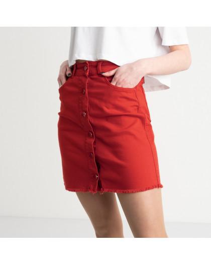 0004-2090 Arox юбка на пуговицах красная котоновая (4 ед. размеры: 34.36.38.40) Arox