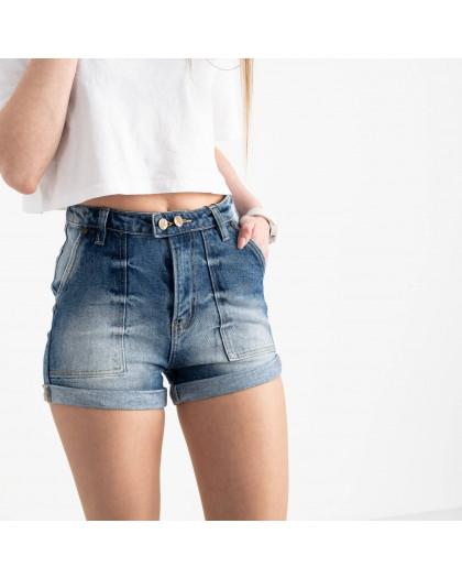 6663-5 Relucky шорты джинсовые голубые стрейчевые (6 ед. размеры: 25.26.27.28.29.30) Relucky