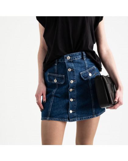 2824 Xray юбка джинсовая на пуговицах синяя котоновая (6 ед. размеры: 34.34.36.36.38.40) XRAY