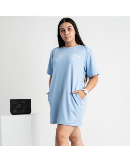 5515-5 Mishely туника женская голубая из двунитки (4 ед. размеры: 46.28.50.52) Mishely