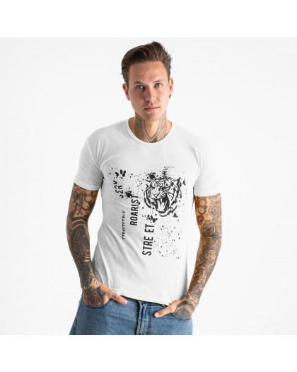 2601-10 белая футболка мужская с принтом (4 ед. размеры: M.L.XL.2XL) Футболка