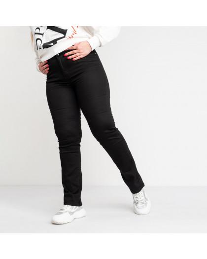 9803-1  Sunbird черные брюки женские батальные стрейчевые (6 ед. размеры: 35.36.37.39.40.42) Sunbird