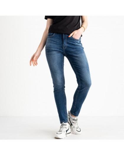 0549-8 AF Relucky джинсы полубатальные женские синие стрейчевые (6 ед. размеры: 28.29.30.31.32.33) Relucky