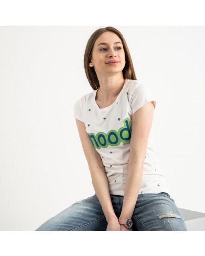 2588-11 Geso молочная футболка женская с принтом (4 ед. размеры: S.M.L.XL) Geso