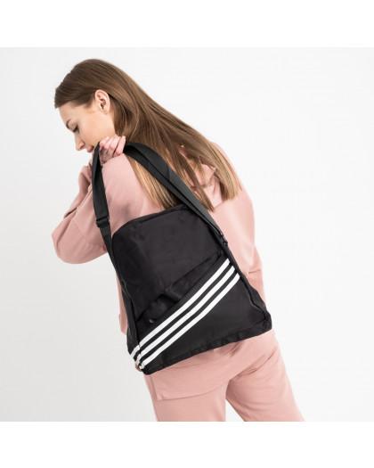 4270-1 черная спортивная сумка женская  (5 ед )  Сумка