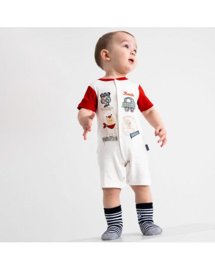 17065 Emotion kids красный комбинезон на мальчика 1-9 мес. (6 ед. размеры: 62.62.68.68.74.74) Emotion kids
