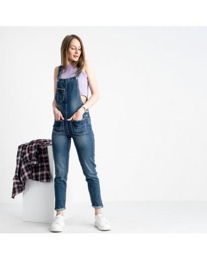 0307-1 Relucky комбинезон джинсовый голубой стрейчевый (6 ед. размеры: 25.26.27.28.29.30)  Relucky