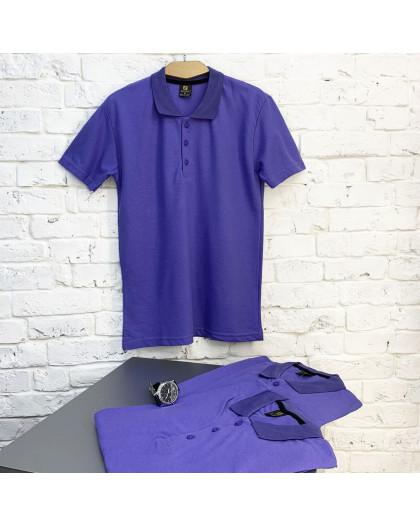 2690-3 фиолетовая футболка поло мужская (4 ед. размеры: M.L.XL.XXL) Футболка