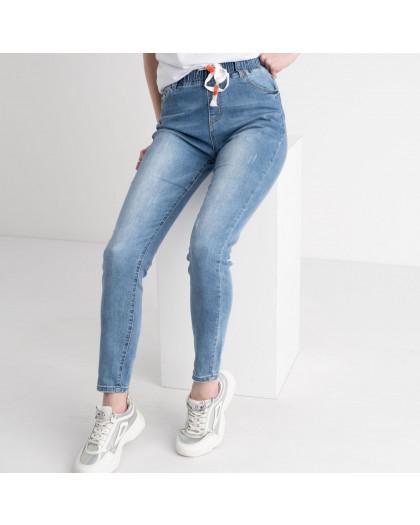 0668 New Jeans джинсы голубые стрейчевые на резинке (6 ед. размеры: 25.26.27.28.29.30) New Jeans