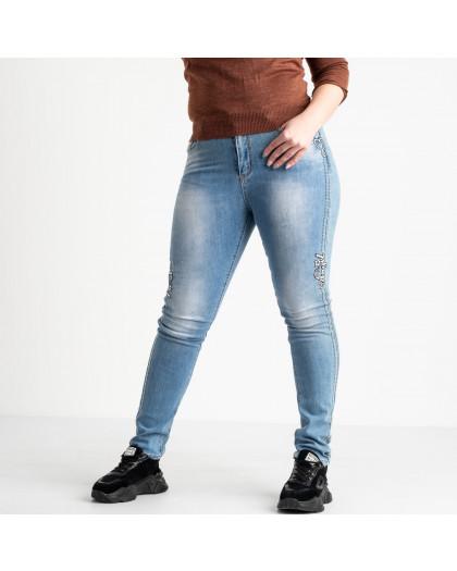 1276 Lady N джинсы батальные женские синие стрейчевые (6 ед. размеры: 30.31.32.33.34.36) Lady N