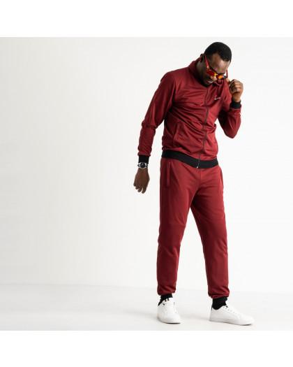 1660-4 бордовый мужской спортивный костюм трикотажный (5 ед. размеры: 46.48.50.52.54) Спортивный костюм