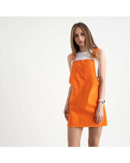 2855 Xray сарафан джинсовый оранжевый котоновый ( 6 ед. размеры: 34/2.36/2.38.40) XRAY